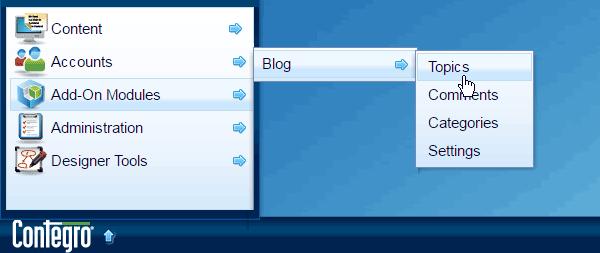 Contegro Start > Add-on Modules > Blog > Topics